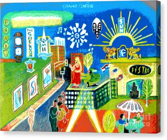 Saint Louis University Canvas Print - Grand Center St. Louis by Genevieve Esson