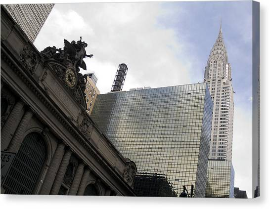 Grand Central And The Chrysler Building Canvas Print