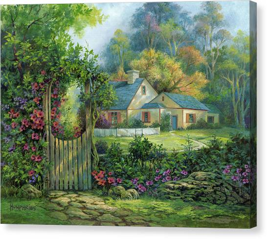 Country Scene Canvas Print - Grand Entrance by Michael Humphries