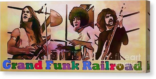 Grand Funk Railroad Canvas Print