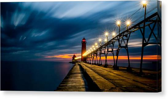 Grand Haven Lighthouse Canvas Print
