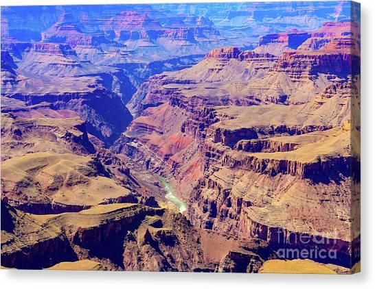 Grand Haze Canyon Canvas Print