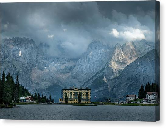Grand Hotel Misurina Canvas Print