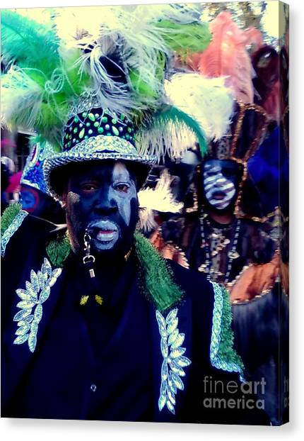 Grand Marshall Of The Zulu Parade Mardi Gras 2016 In New Orleans Canvas Print