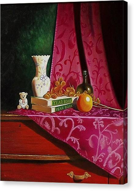Grand Ma's Dresser Canvas Print