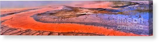 Yellowstone Caldera Canvas Print - Grand Prismatic Panoramic Abstract by Adam Jewell