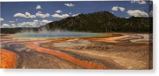 Yellowstone National Park Canvas Print - Grand Prismatic Spring by Andrew Soundarajan