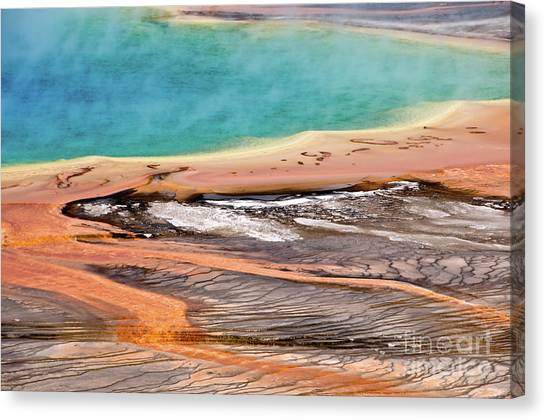 Yellowstone National Park Canvas Print - Grand Prismatic Spring by Delphimages Photo Creations