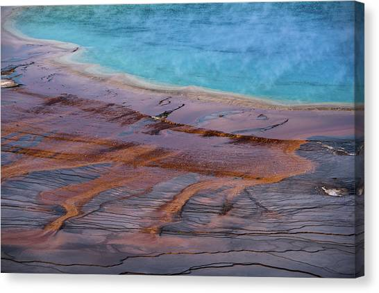 Grand Prismatic Spring Detail Canvas Print