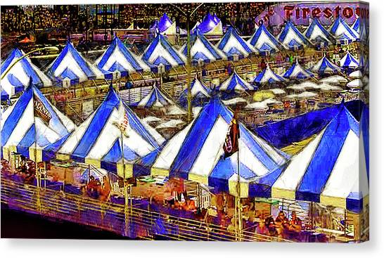 Canopy Canvas Print - Grand Prix Official Stands by Joseph Hollingsworth