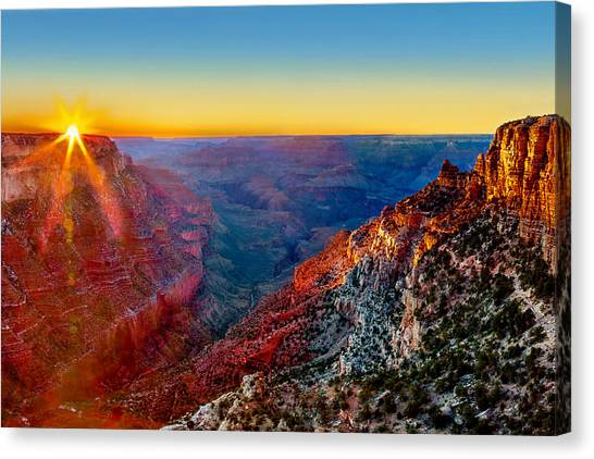 Sunset Horizon Canvas Print - Grand Sunset by Az Jackson