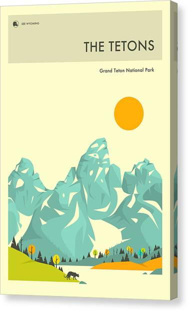 Glacier National Park Canvas Print - Grand Teton National Park by Jazzberry Blue