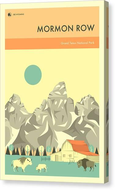 Tetons Canvas Print - Grand Teton National Park - Mormon Row by Jazzberry Blue