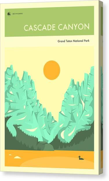 Grand Teton Canvas Print - Cascade Canyon by Jazzberry Blue