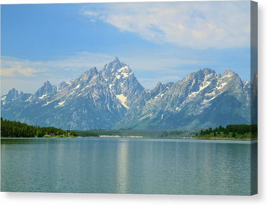 Grand Teton Over Jackson Lake Canvas Print