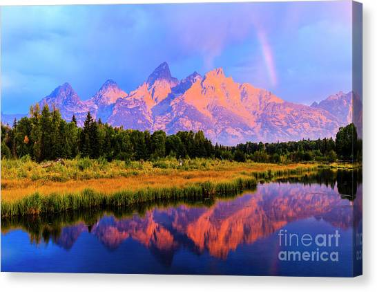 Grand Teton Sunrise Canvas Print