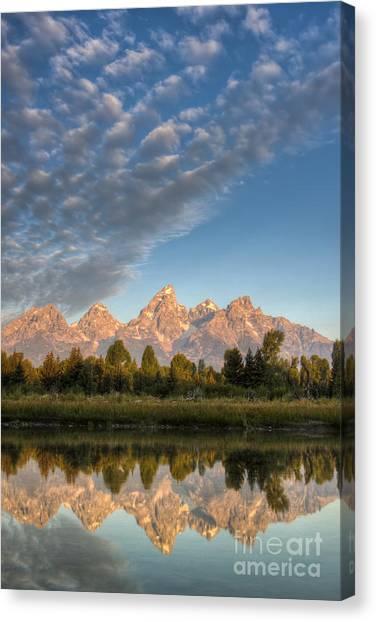 Wy Canvas Print - Grand Teton Sunrise Jackson Hole Wy by Dustin K Ryan
