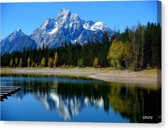 Grand Tetons 2 Canvas Print by Carrie Putz