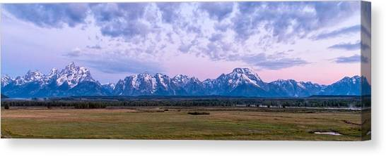 Jackson Hole Canvas Print - Grand Tetons Before Sunrise Panorama - Grand Teton National Park Wyoming by Brian Harig