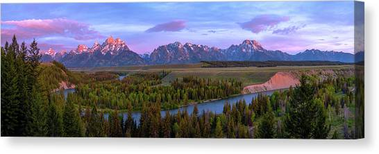 Wyoming Canvas Print - Grand Tetons by Chad Dutson