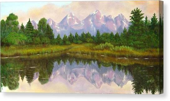 Grand Tetons Canvas Print by Merle Blair