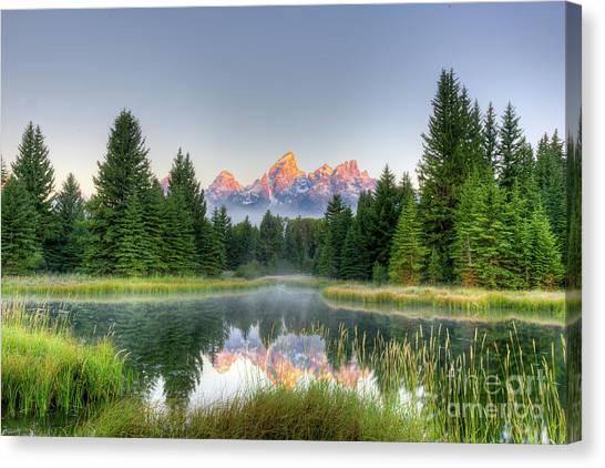 Grand Tetons Sunrise 2 Canvas Print