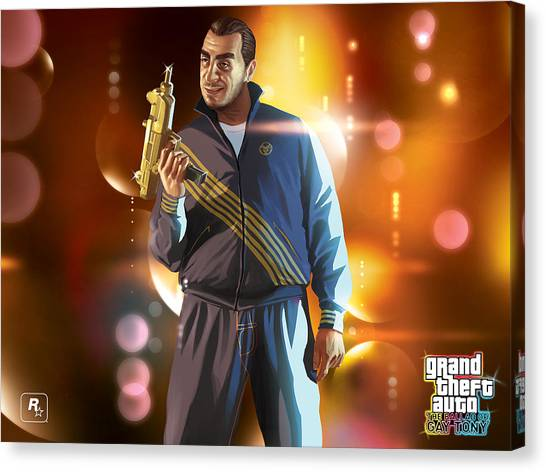 Grand Theft Auto Canvas Print - Grand Theft Auto Ballad Of Gay Tony by Maye Loeser