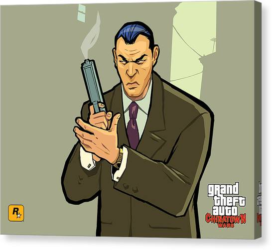 Grand Theft Auto Canvas Print - Grand Theft Auto Chinatown Wars by Eloisa Mannion