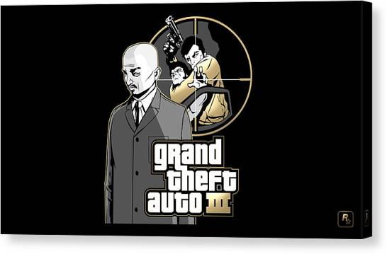 Grand Theft Auto Canvas Print - Grand Theft Auto IIi by Angie Fraley