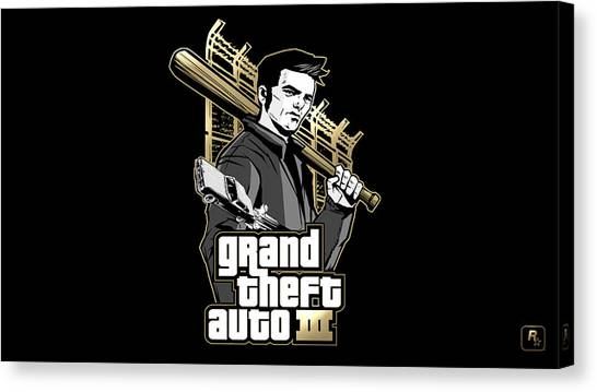 Grand Theft Auto Canvas Print - Grand Theft Auto IIi by Eloisa Mannion