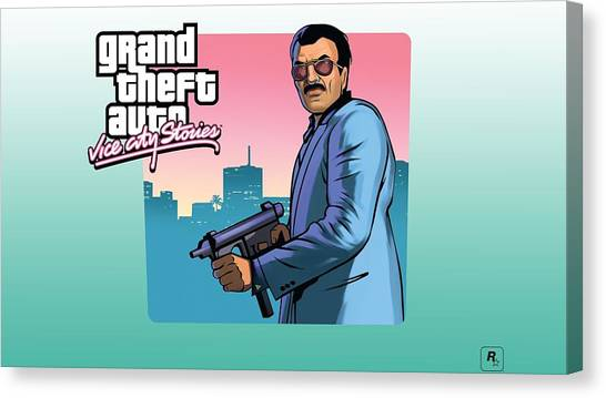 Grand Theft Auto Canvas Print - Grand Theft Auto Vice City by Tatiania Laning