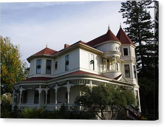 Grand Victorian Mansion  Canvas Print
