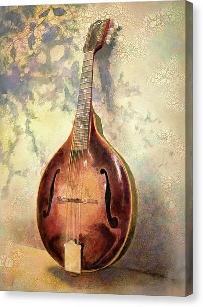 Mandolins Canvas Print - Grandaddy's Mandolin by Andrew King