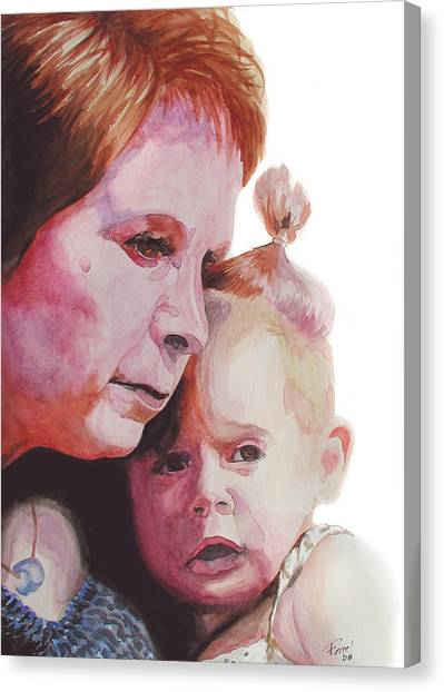 Grandchild Canvas Print by Ferrel Cordle