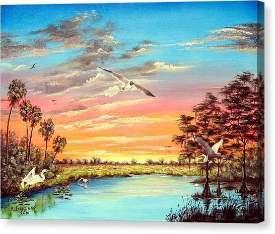 Grandeur Of The Glades Canvas Print by Riley Geddings
