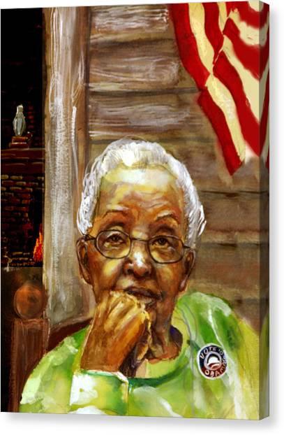 Grandma For Obama Canvas Print