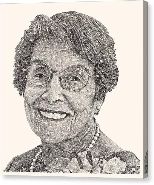 Grandma Canvas Print - Grandma Volpicelli by Michael Volpicelli