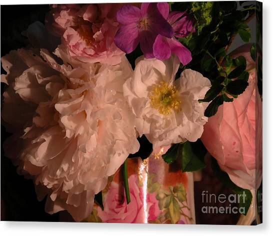 Grandma's Bloomers Canvas Print by Donna Stewart