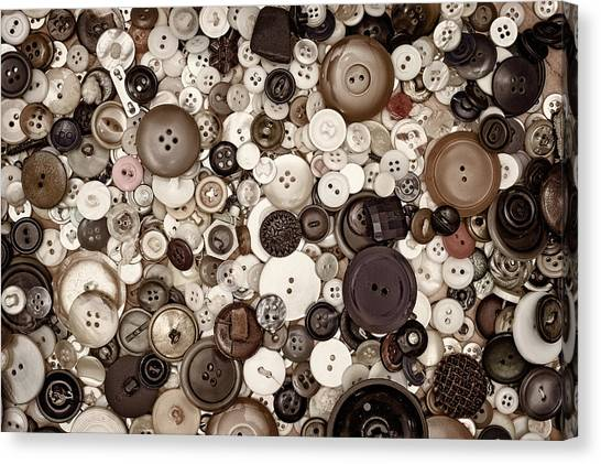Ivory Canvas Print - Grandmas Buttons by Scott Norris
