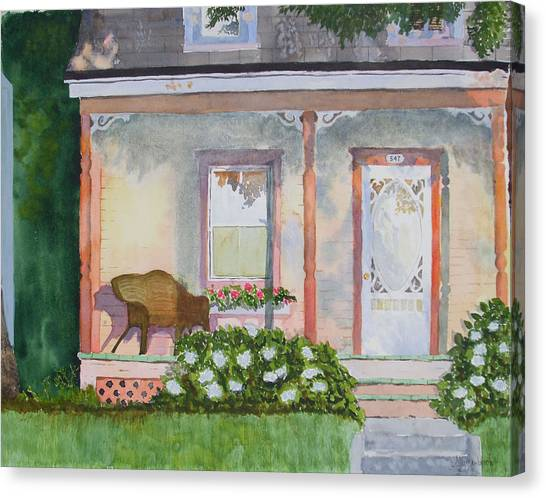 Grandma's Front Porch Canvas Print by Ally Benbrook