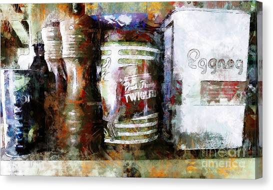 Grandma's Kitchen Tins Canvas Print