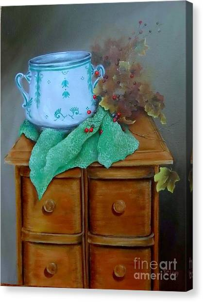 Grandma's Sewing Chest Canvas Print by Patricia Lang