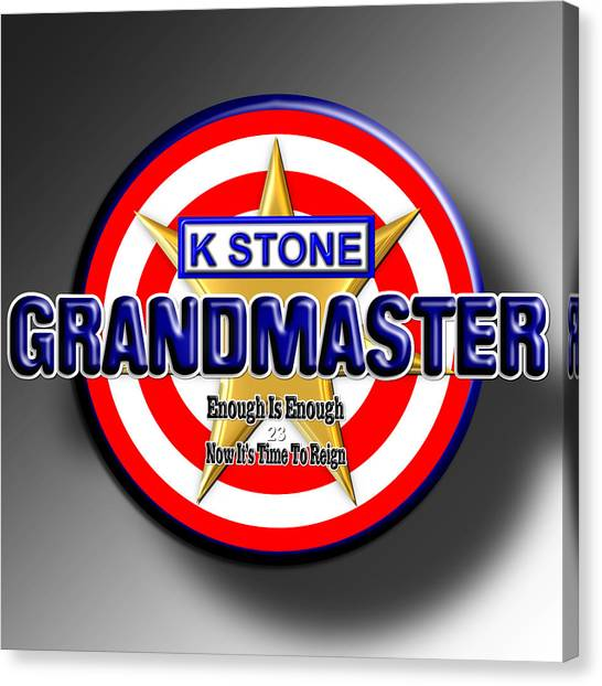 Canvas Print - Grandmaster by K STONE UK Music Producer
