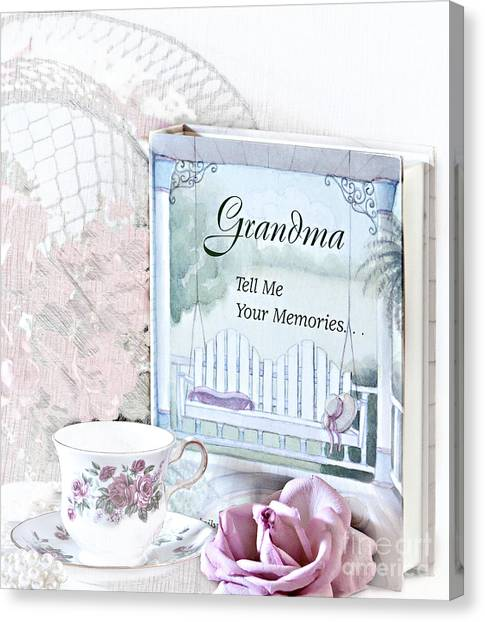 Grandmother...tell Me Your Memories Canvas Print