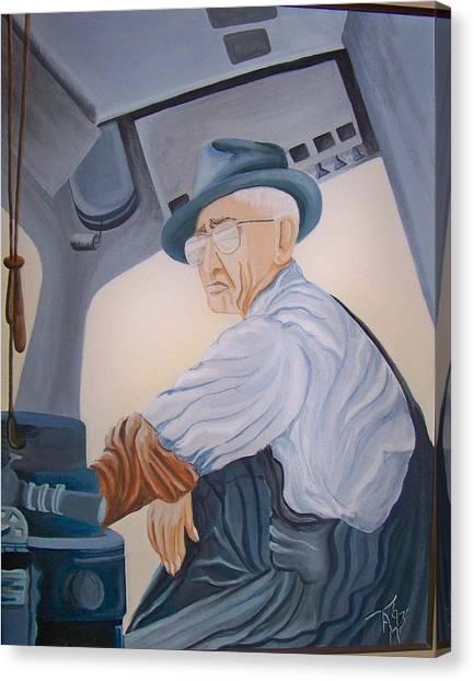 Grandpa Albee Canvas Print by Tammera Malicki-Wong
