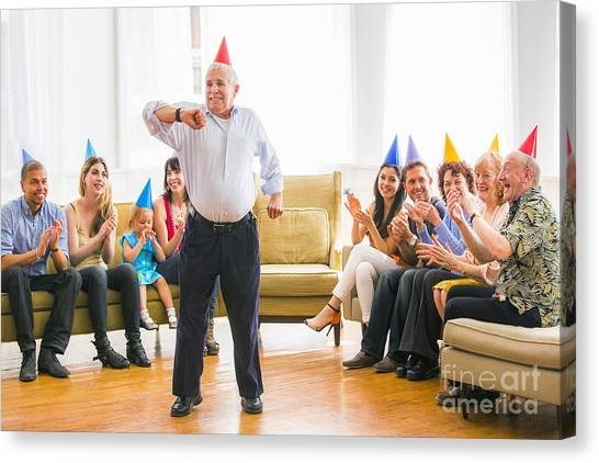 Grandpa Canvas Print - Grandpa's Birthday Dance by Diane Diederich