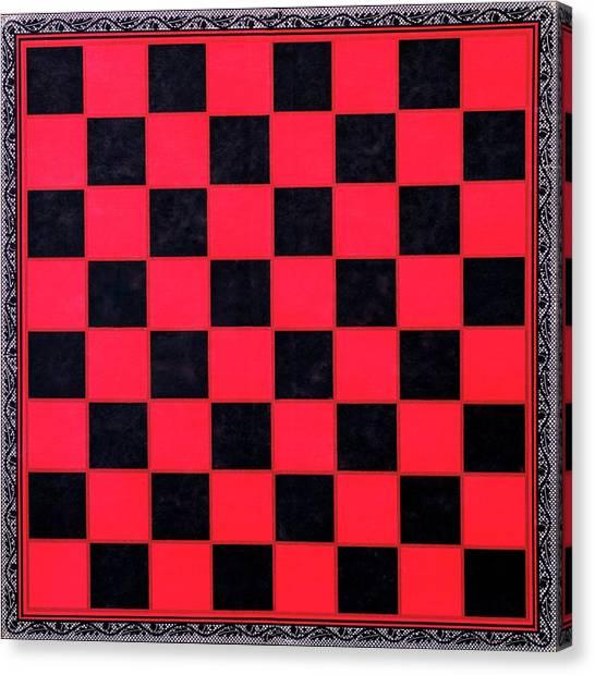 Grandpa's Checkerboard Canvas Print