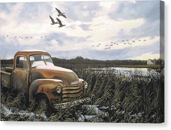 Grandpa's Old Truck Canvas Print