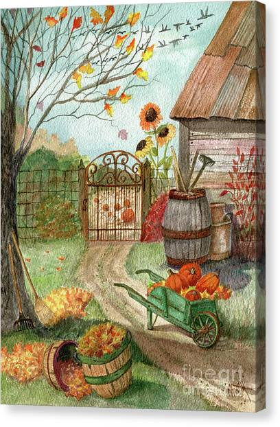 Canvas Print - Grandpa's Pumpkin Patch by Marilyn Smith