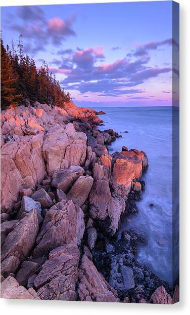 Granite Coastline Canvas Print